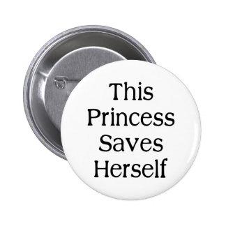 Esta princesa Salvamento Botons