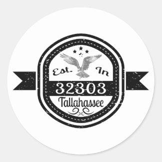 Estabelecido em 32303 Tallahassee Adesivo