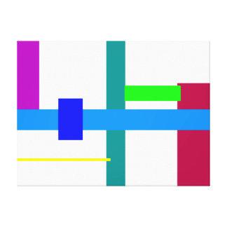Estação azul mínima impressão em canvas