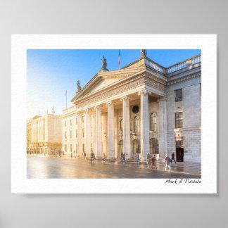 Estação de correios histórica de Dublin Ireland - Pôsteres