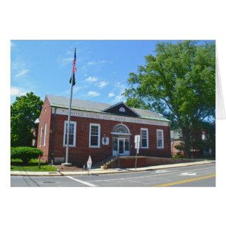 Estação de correios Notecard Cartão Comemorativo