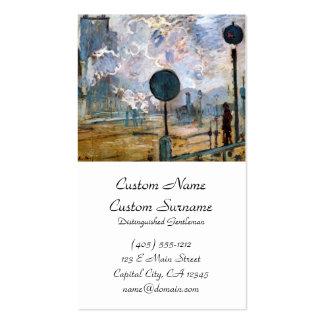 Estação do Santo-Lazare, Claude Monet exterior Cartão De Visita