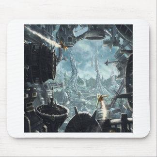 Estação espacial abstrata da cidade mousepads