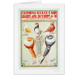 Estado 1909 justo de Califórnia Cartão Comemorativo
