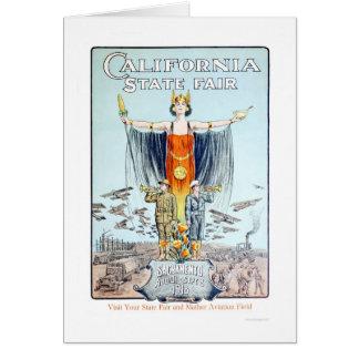 Estado 1918 de Califórnia justo Cartão Comemorativo