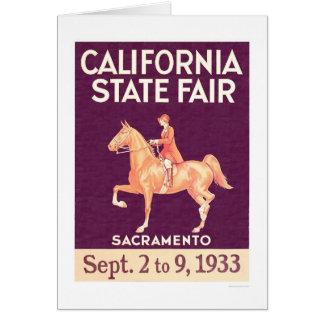 Estado 1933 de Califórnia justo Cartão Comemorativo