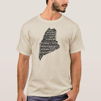"""""""Estado da luva curta leve dos homens da cerveja"""" Camiseta"""