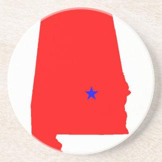 Estado de Alabama Porta Copos De Arenito