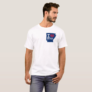 Estado de Arkansas eu amo o tshirt dos PORCOS