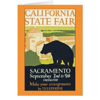 Estado de Califórnia justo Cartão Comemorativo