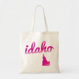 Estado de Idaho no rosa Bolsa Tote
