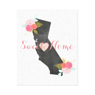 Estado Home doce de Califórnia & coração móvel