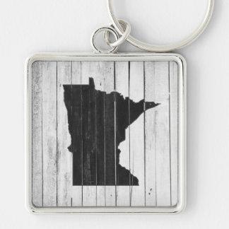 Estado preto e branco de madeira rústico de chaveiro