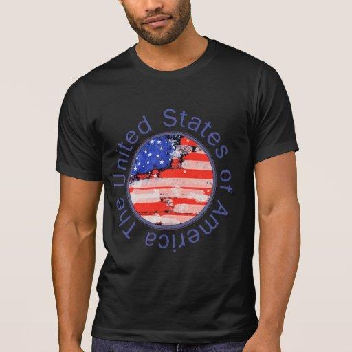 Estados Unidos da América. bandeira Camisetas