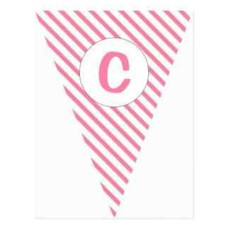 Estamenha customizável da bandeira do rosa quente  cartões postais
