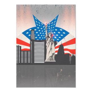 Estátua da liberdade convite 12.7 x 17.78cm