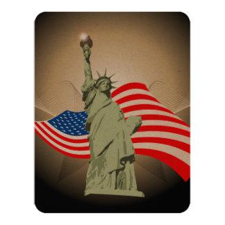 Estátua da liberdade convite 10.79 x 13.97cm