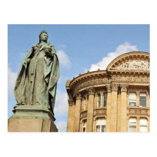 Estátua da rainha Victoria em Birmingham, Cartão Postal