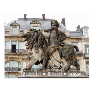 Estátua de Bruxelas Cartão Postal