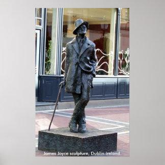 Estátua de James Joyce, Dublin Ireland Poster