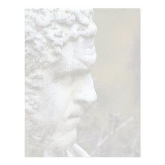 Estátua do jardim do homem papel timbrado