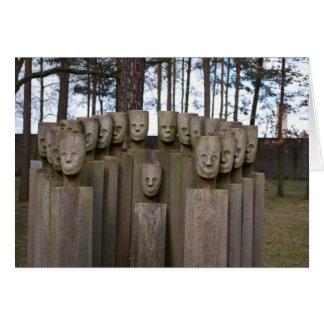Estátuas comemorativas em Berlim Alemanha Cartão Comemorativo