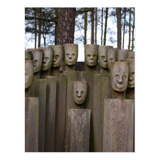 Estátuas comemorativas em Berlim Alemanha Cartoes Postais