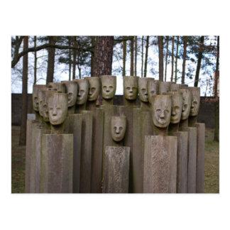 Estátuas comemorativas em Berlim Alemanha Cartão Postal