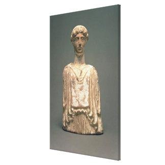 Estatueta de Persephone, sótão, c.500 BC (terracot Impressão De Canvas Esticadas