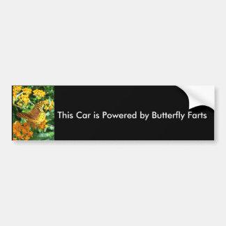 Este carro é psto pela borboleta Farts Adesivo Para Carro