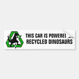 Este carro é psto por dinossauros do reciclado adesivo para carro