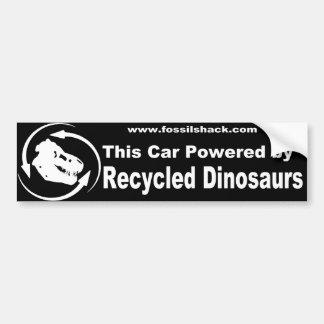 este carro psto pelo bumperstick dos dinossauros d adesivo para carro