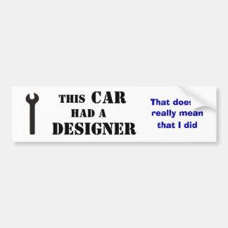 Este carro teve um desenhista adesivo para carro