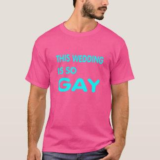 Este casamento é tão alegre t-shirts