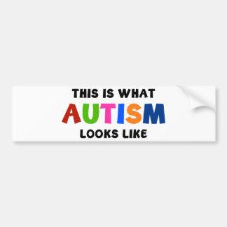 Este é o que o autismo olha como adesivo para carro