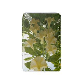 esteira de banho amarela da flor tapete de banheiro