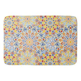 Esteira de banho com impressão floral do teste tapete de banheiro