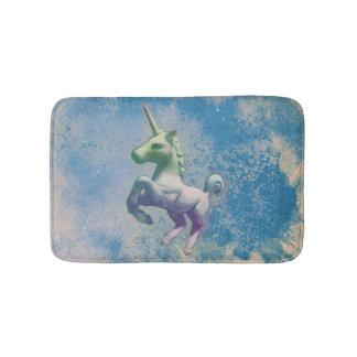 Esteira de banho do unicórnio (ártico azul) tapete de banheiro
