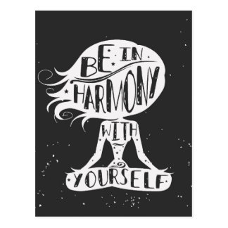 Esteja na harmonia com o senhor mesmo cartão postal