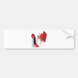 Estilete do Corkscrew e coração vermelhos da quebr Adesivo Para Carro