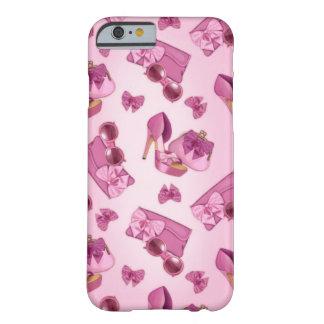 Estilete e bolsa cor-de-rosa do arco capa barely there para iPhone 6