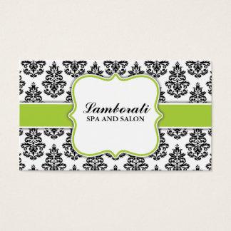 Estilista floral elegante do cabeleireiro do salão cartão de visitas