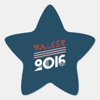Estilo 2016 da campanha do vintage do caminhante adesivo estrela