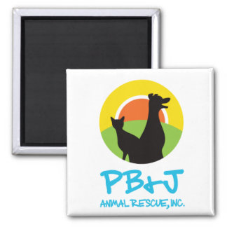 Estilo animal 2 do ímã do salvamento de PB&J Íman