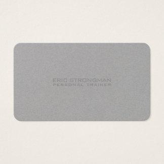 Estilo cinzento mínimo simples de kraft cartão de visitas