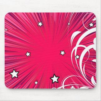 Estilo cor-de-rosa da banda desenhada estourado mouse pad