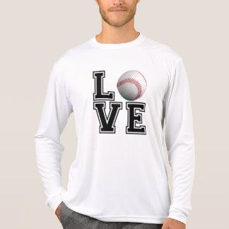 Estilo da faculdade do basebol do amor t-shirts