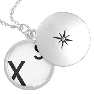 estilo do alfabeto colar banhado a prata