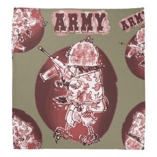 estilo dos desenhos animados do soldado da águia pano para cabeça