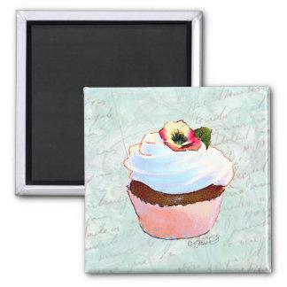 Estilo francês do Victorian do cupcake do chocolat Ima